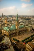 Hamburg from above by navamalika