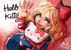 Hello Kitty is a actually a human girl! by NaNinna
