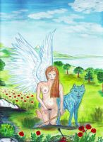 le chagrin de l ange by angeloup