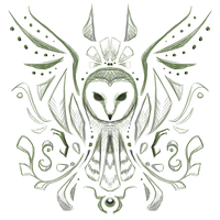 Crest Sketch 2: Owl by andarix