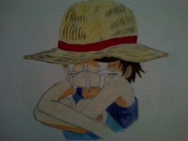 little luffy by amoonchan
