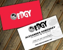 Edgy Tee Company Business Card by witnessGFX