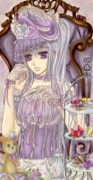 Lady Lavender: Tea Time by paper-and-stars