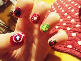 Avenger Nails by ofpink