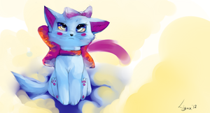 cloudy kitty by Ligax