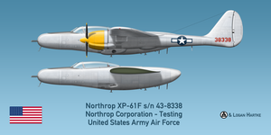 Northrop XP-61F Escort Fighter Prototype by comradeloganov