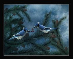 Blue Jays for Canan by saperlipop