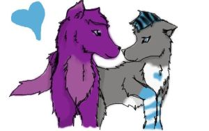 Me And Andrew as wolves by xxLovedxxYouxxAlways