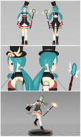 [Animasa Contest Entry] Rainbow Illusion Miku by Arkenidae