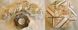 Recycled paper boxes by flufdrax