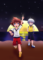 Hey, Riku! Look! by fryzylstyk