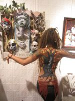 Muerte art show mask alter and vicki by cannibol