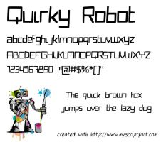 Quirky Robot font by star-kwafie