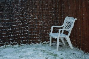Frosty chair stock by Quinnphotostock