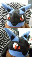 Lucario hat. by x-Wolfeh-x