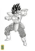 Vegeto saiyajin's saga by bloodsplach
