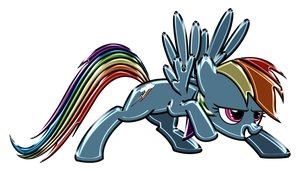 Rainbow Dash Chrome by DuskBrony