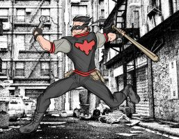 Nightwing Rockabilly - Red Edition by rubioric