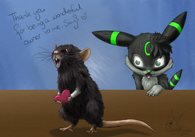 Penny the Beloved Rat by GoldFlareon