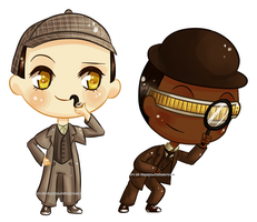 Detective Data Holmes and Dr. LaForge by RingoYan
