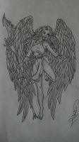 angel drawing by gbftattoos
