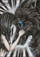ACEO: Inseparable #12 by SaidyWolf