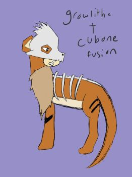 Growlithe+cubone Fusion by typical-gamin-loser