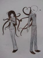 Slenderman and Slenderwoman by GVvenge21