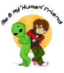 Me and my Human frnd by coralineyb
