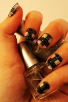 Checkered nails! by jolieke10