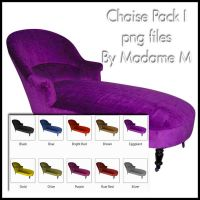 Chaise Lounge Pack by MadameM by Cutoutstock