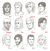 True Blood Characters RD1 by rabbitsontherun
