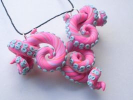 Sweet Baby Tentacle Necklace Octopus by cashewed-almonds