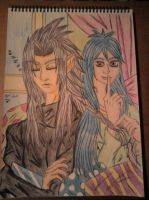 Luna and Xemnas by Laineyfantasy