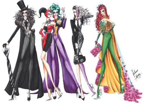 Batman Villains Fashion Collection by frozen-winter-prince