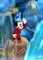 Mickey The Sorcerer's Apprentice by chiby-furry