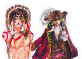 America Indian and Pirate England by EPH-SAN1634