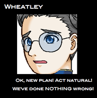 Wheatley in Face Maker by chickenpede