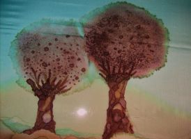 little and big tree by ingeline-art