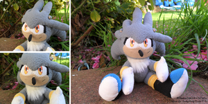 Silver The Hedgehog Plushie V1 by LiChiba