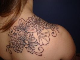 Flower Tattoo on Skin by DanielleHope
