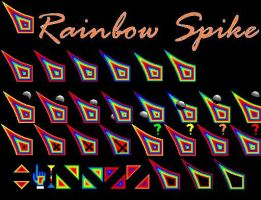 RAINBOW SPIKE CURSOR by juanelloo