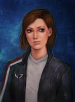Jane Shepard by DancinFox