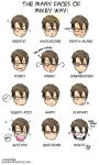 the many faces of mikey way. by ryuuenx