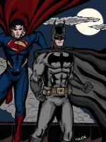 superman and Batman by maxpa27