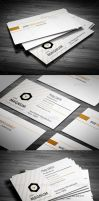 Orange Line Business Card by calwincalwin