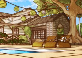 Poolhouse by rosiecoleman