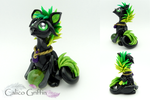 Wasabi the griffin - polymer clay sculpture by CalicoGriffin