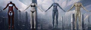 Naked and romance bodies from Mass Effect by Melllin