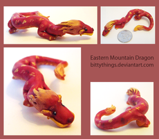 Red Eastern Mountain Dragon - SOLD by Bittythings